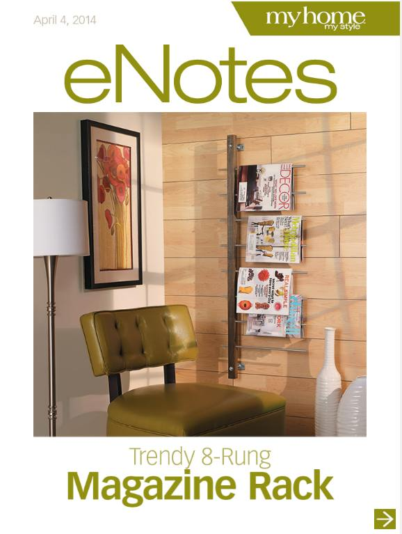 trendy 8 rung magazine rack
