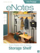 Turn Pipes into a Sleek Storage Shelf