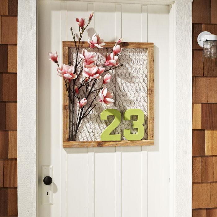 Make your own rustic door art my home my style for Create your own door