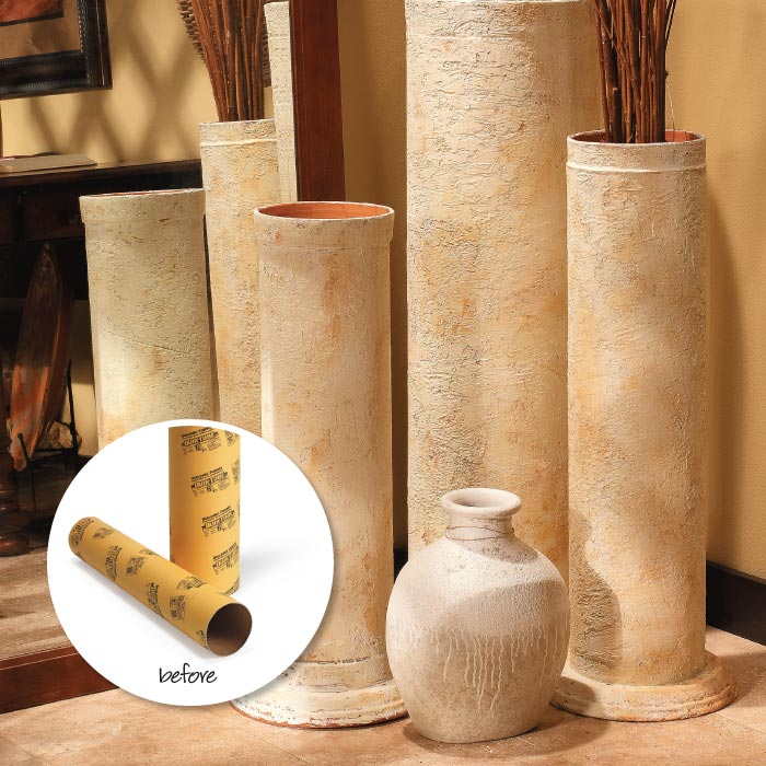 Faux Pillars And Columns : Decorative faux stone column my home style