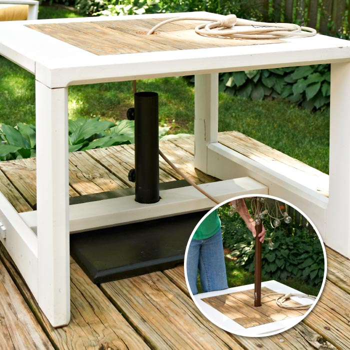 make a side table umbrella stand my home my style