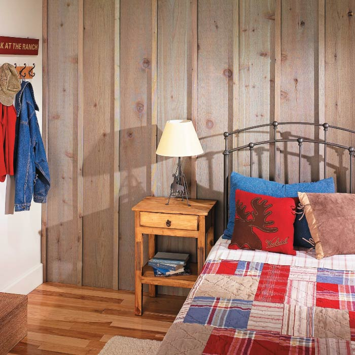 Rustic Cabin Inspired Board Amp Batten Wall My Home My Style