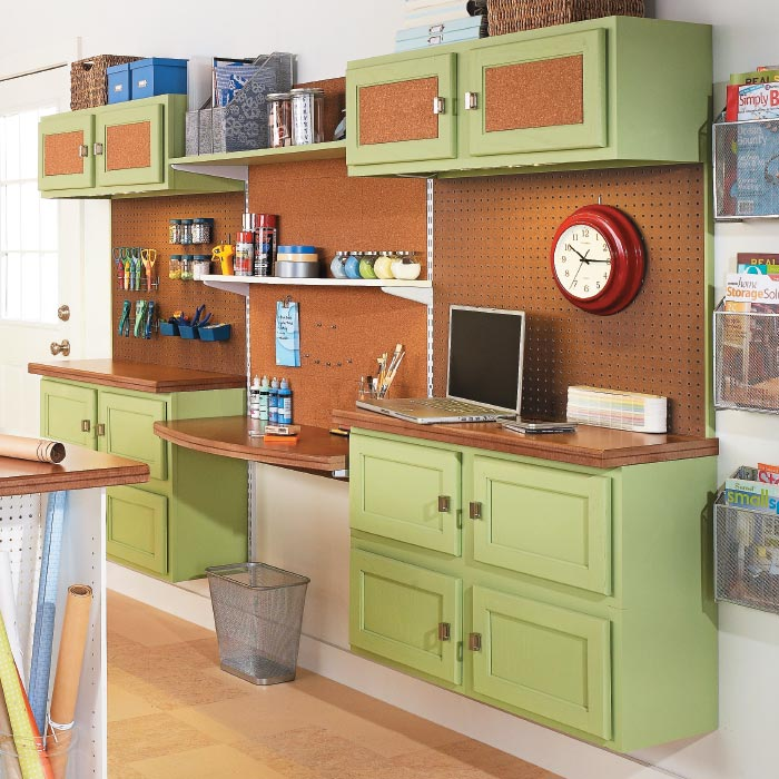 Use kitchen cabinets for craft storage my home my style for Kitchen craft cabinets home depot