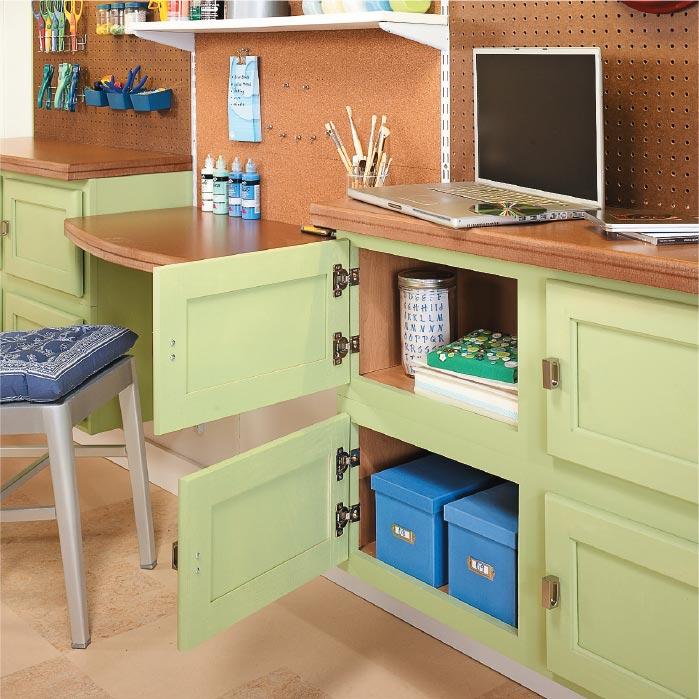 Kitchen Craft Cabinet Sizes: Use Kitchen Cabinets For Craft Storage