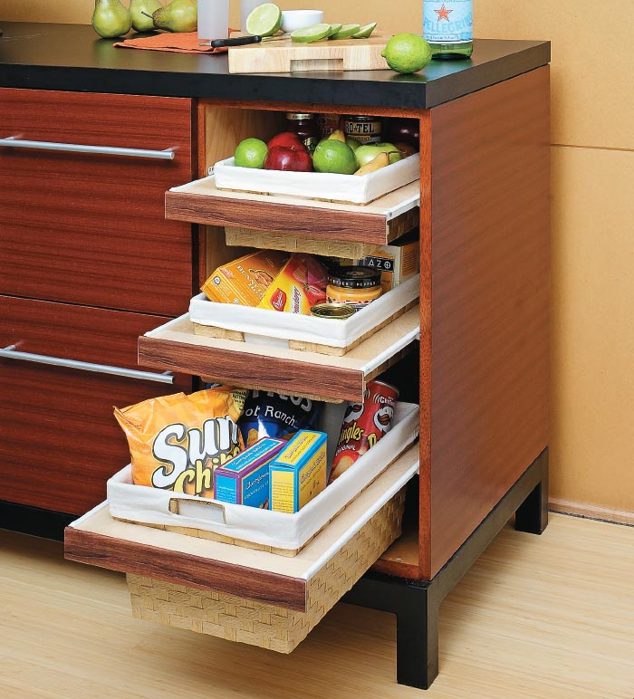 Pull out baskets for kitchen cabinets my home my style for Baskets for kitchen cabinets