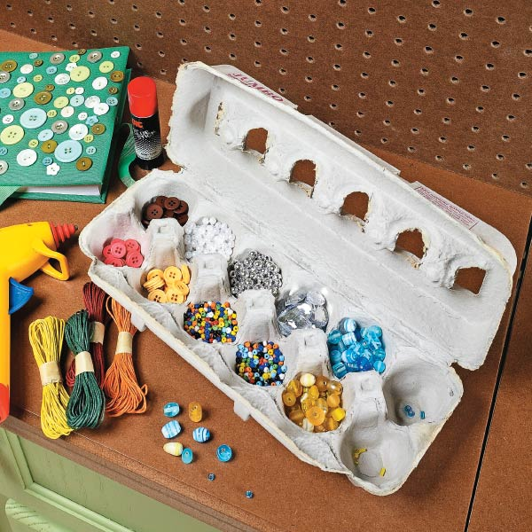 Recycle egg cartons for small part storage my home my style for How to recycle egg cartons