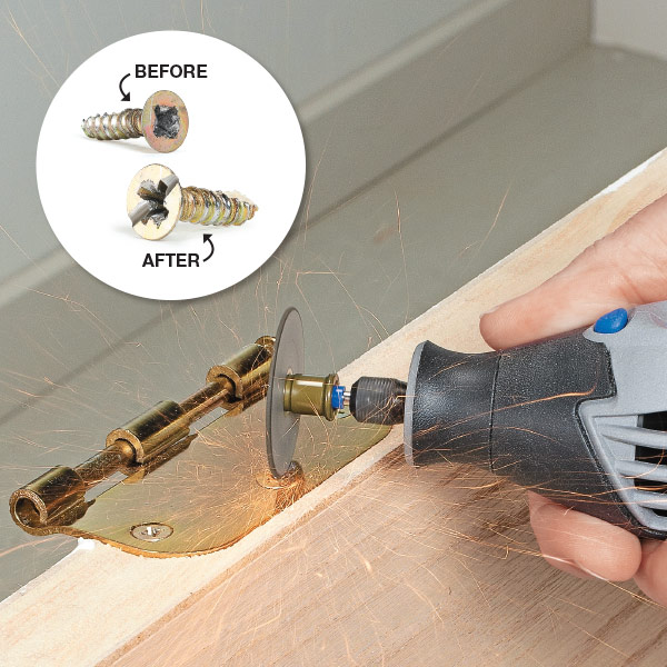 simple removal for a stripped screw my home my style. Black Bedroom Furniture Sets. Home Design Ideas