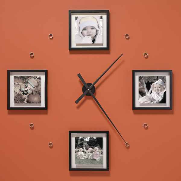 Make an oversized photo wall clock my home my style for Wall clock diy ideas