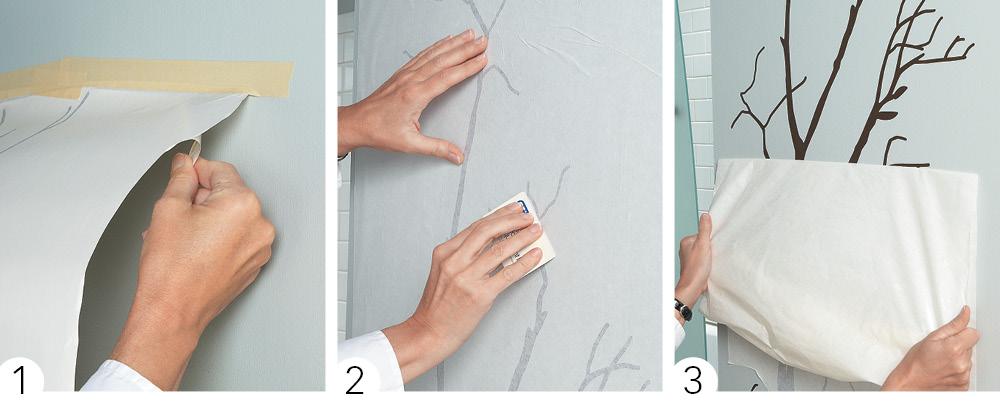 Applying a wall decal