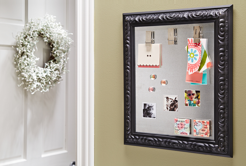 Make a Picture Frame Magnet Board | My Home My Style