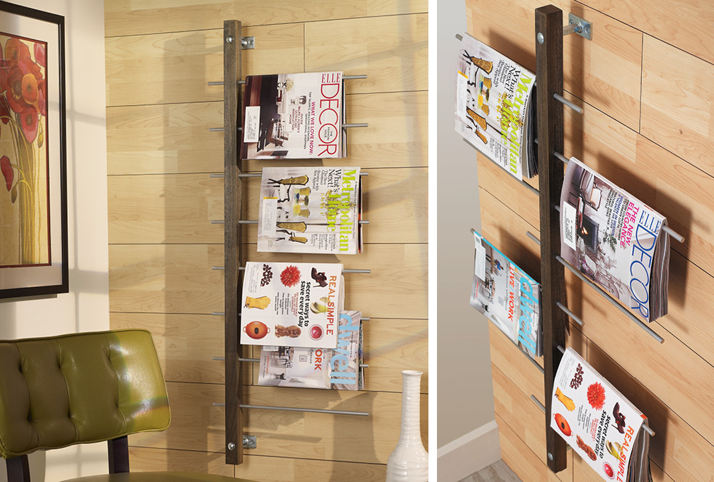 WallMounted Magazine Rack My Home My Style