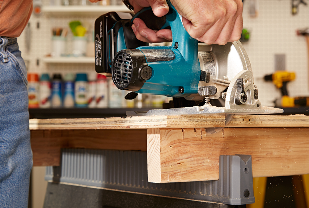 Circular saws 102 my home my style i like to use sawhorses set up with sacrificial tops when using a circular saw this means the sawhorses greentooth Gallery