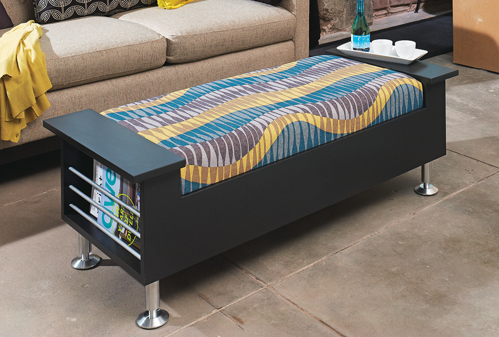 Make a high style storage ottoman my home my style for How to build an ottoman with storage