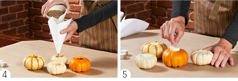 Pumpkin Votives How-To